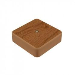 Коробка расп.наруж.установки 75х75х20мм (орех)