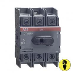 АВВ OT125F3 Рубильник 125 А 3п. для установки