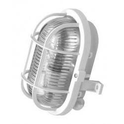 Светильник овал с пласт.реш.60В(белый)