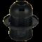 Патрон с прижимным кольцом Е27 чёрный AB7SPBEAY