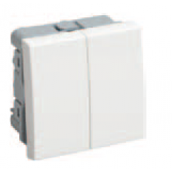 Выключатель проходной 2кл.на 2 модуля Праймер