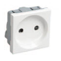 Розетка силовая 2к,2мод.,(белая) Праймер