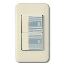 0122 Выключатель 2 кл.(серый)