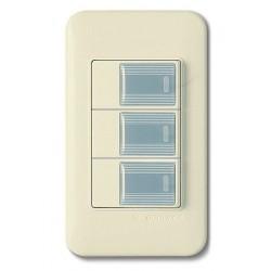 0123 Выключатель 3 кл.(серый)