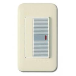 0124 Выключатель 1 кл. с подсв.(серый)