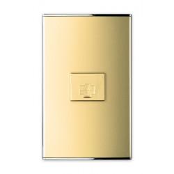 3524 Розетка  телефонная 6Р ,Parthenon Gold