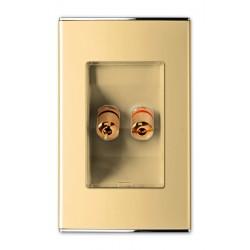 3536 Розетка  Аудио-1я ,Hi-Fi Parthenon Gold