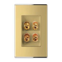 3537 Розетка  Аудио-2я ,Hi-Fi Parthenon Gold